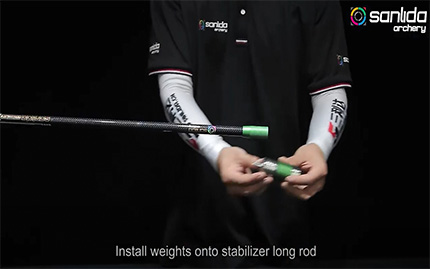 CBS006 Install Weights onto Stabilizer Side Rod onto Hero X10 Bow